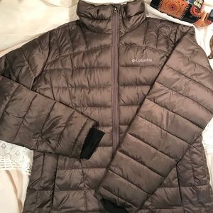 Columbia Thermal Coil down jacket-Gray-Size large
